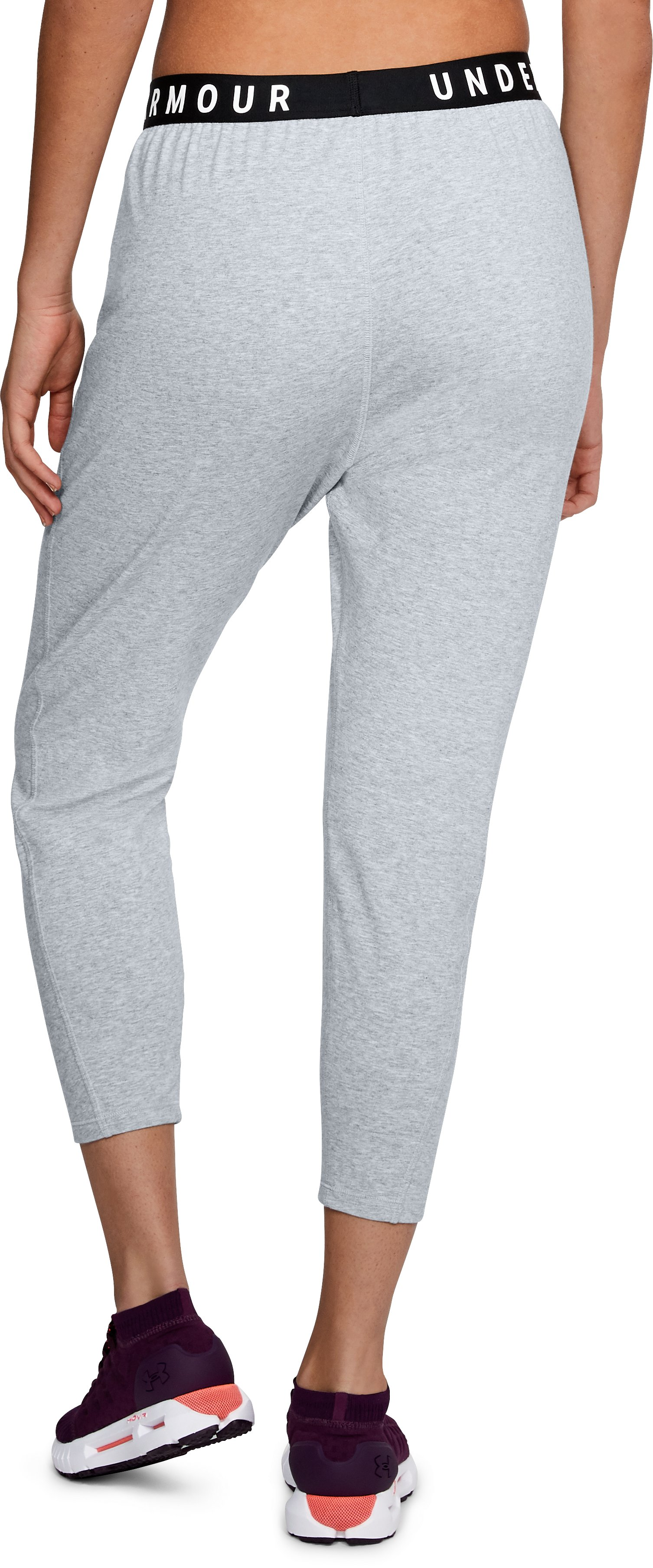 Women's UA Favorite Tapered Slouch Pants, STEEL LIGHT HEATHER,