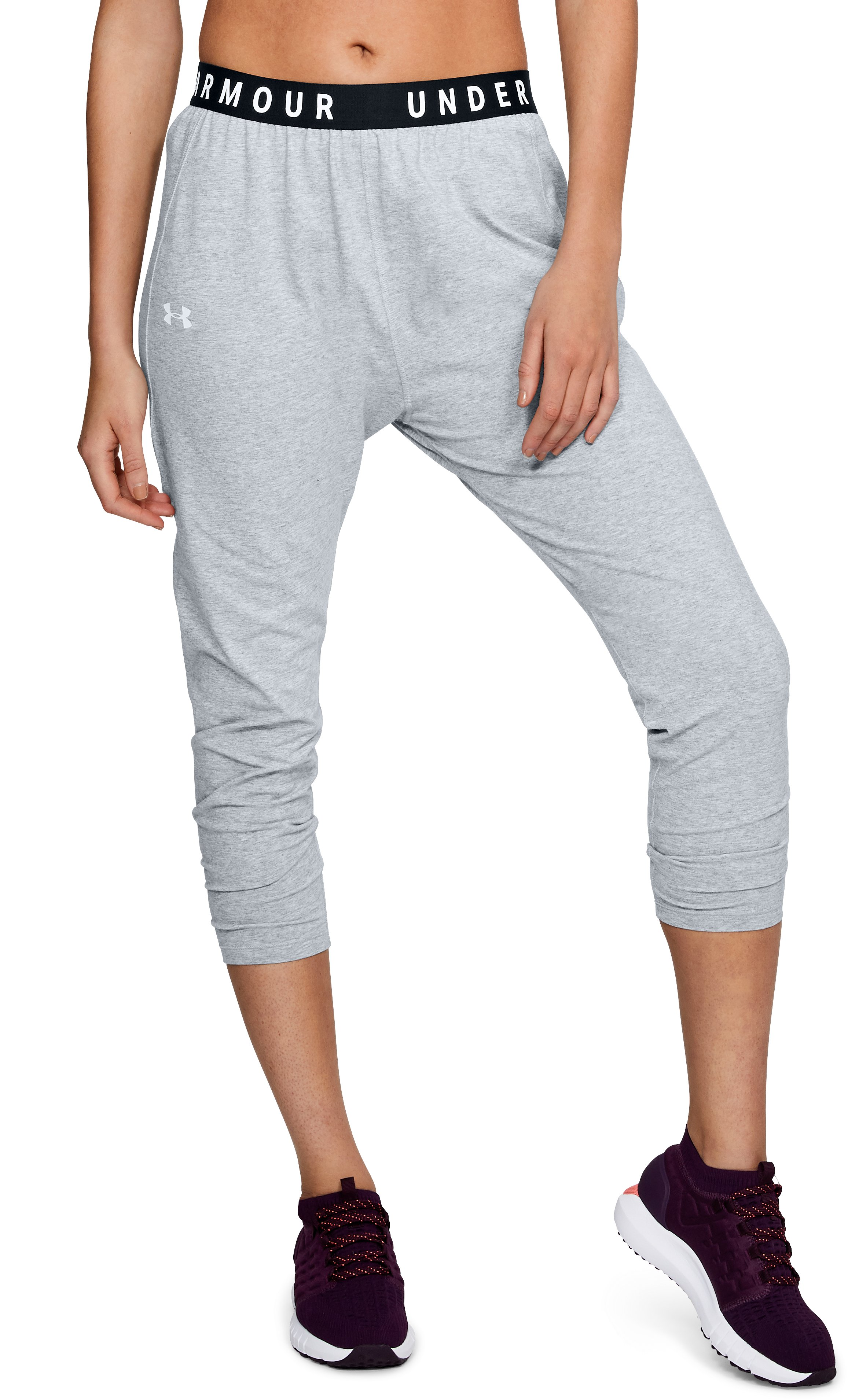 Women's UA Favorite Tapered Slouch Pants, STEEL LIGHT HEATHER