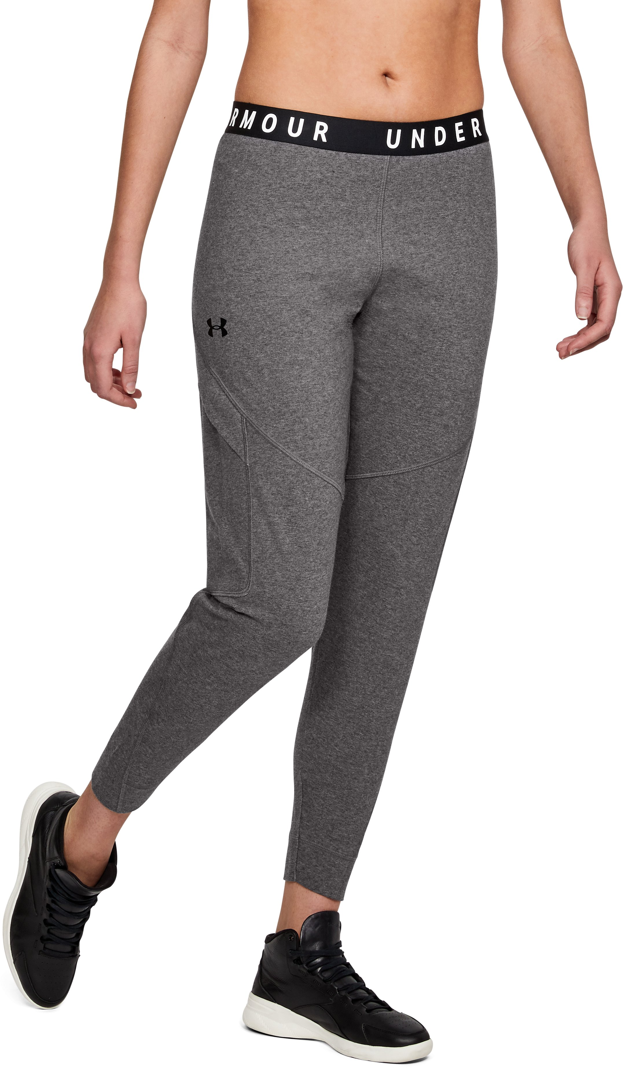 Women's UA Favorite Utility Cargo Pants, CHARCOAL LIGHT HEATHER,
