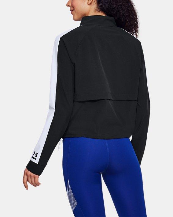 Women's UA Woven Storm Jacket, Black, pdpMainDesktop image number 2