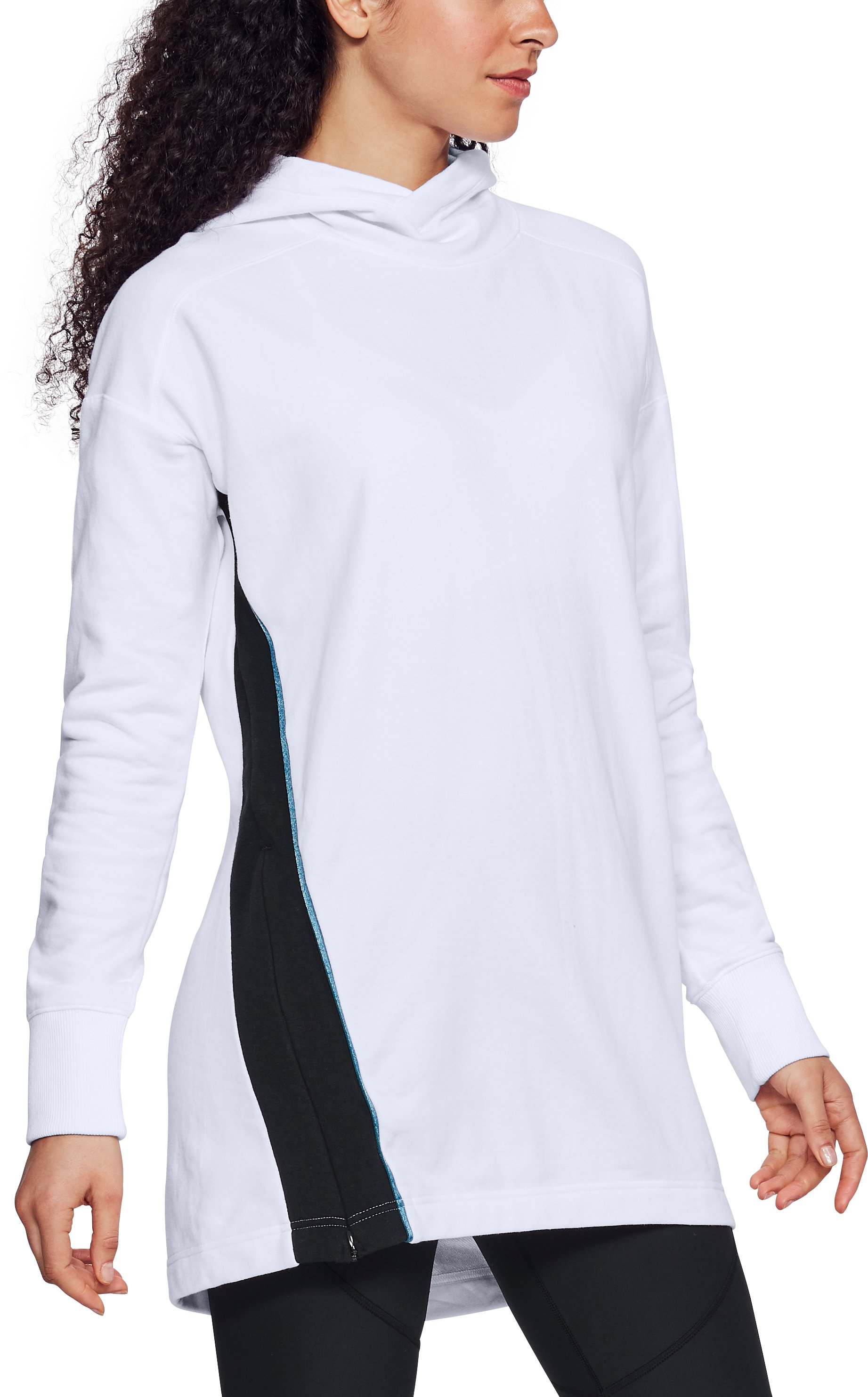 Women's UA Fleece Tunic, White, undefined