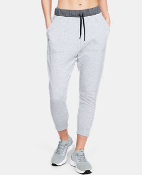 New Arrival Women's UA Favorite Terry Tapered Slouch Crop FREE U.S. SHIPPING 2  Colors Available $50