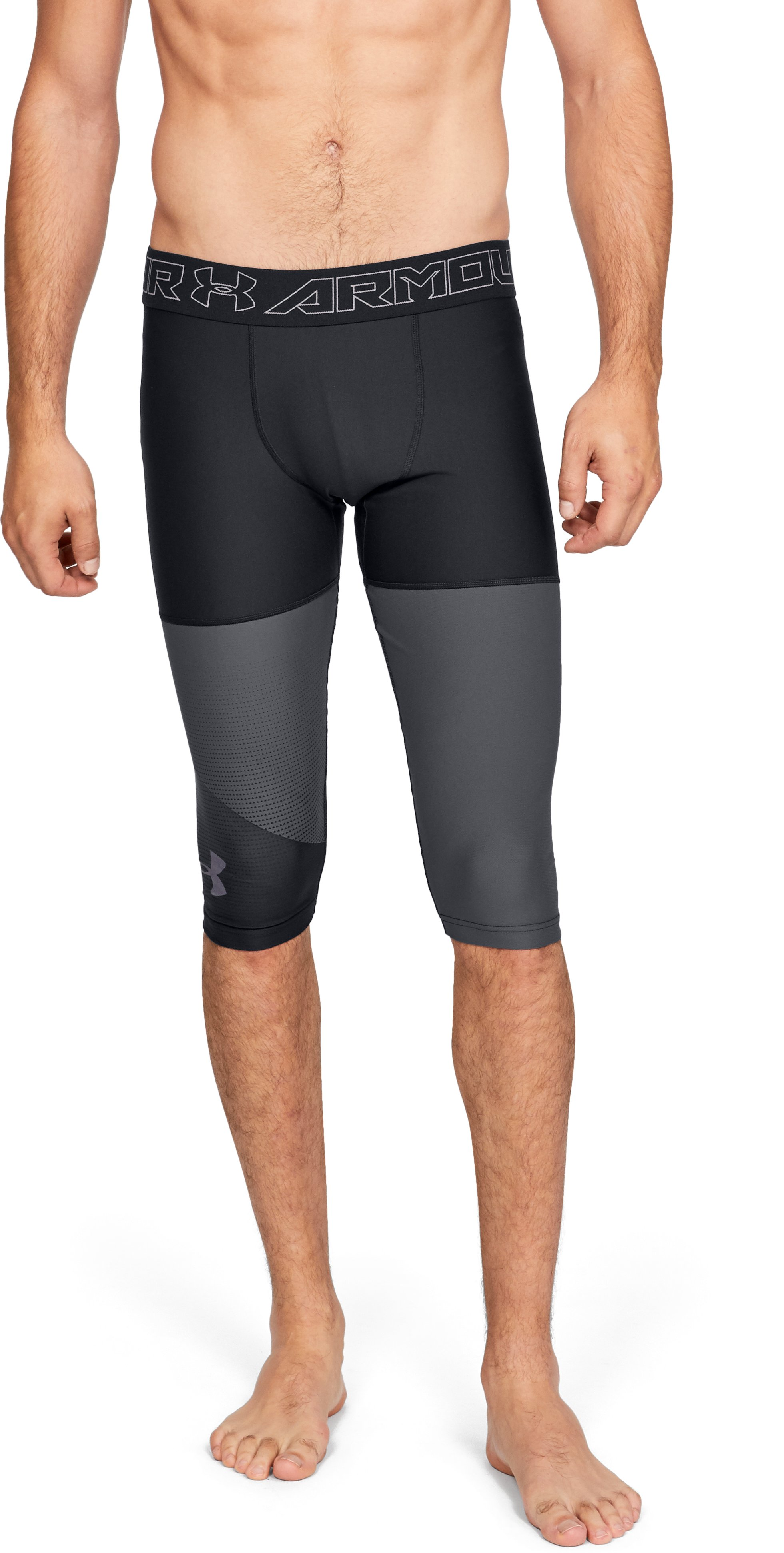 Men's UA Vanish ½ Leggings, Black ,