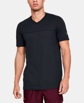 Men's UA Vanish Seamless Short Sleeve V-Neck  4  Colors Available $50