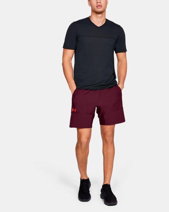 Men's UA Vanish Seamless Short Sleeve V-Neck, Black, pdpMainDesktop image number 1