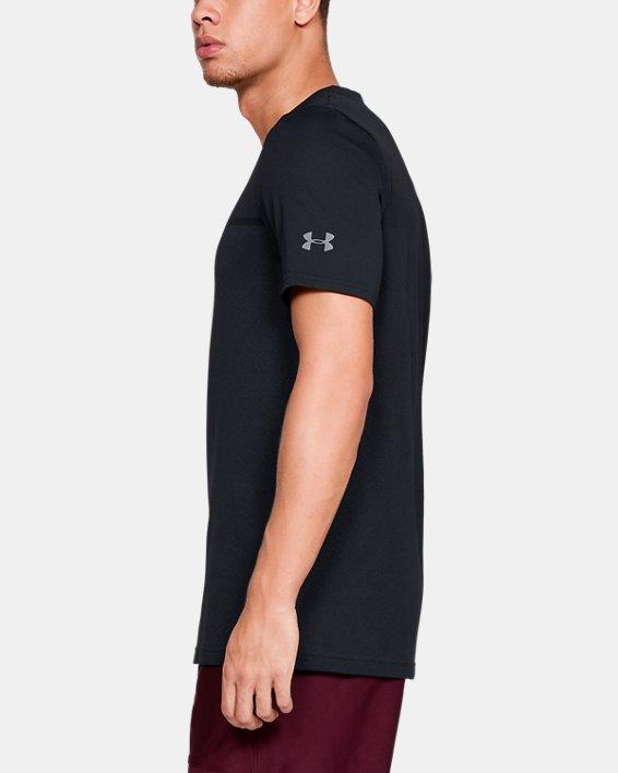 Men's UA Vanish Seamless Short Sleeve V-Neck, Black, pdpMainDesktop image number 3