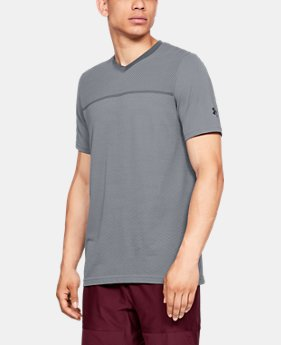 Men's UA Vanish Seamless Short Sleeve V-Neck  1  Color Available $40