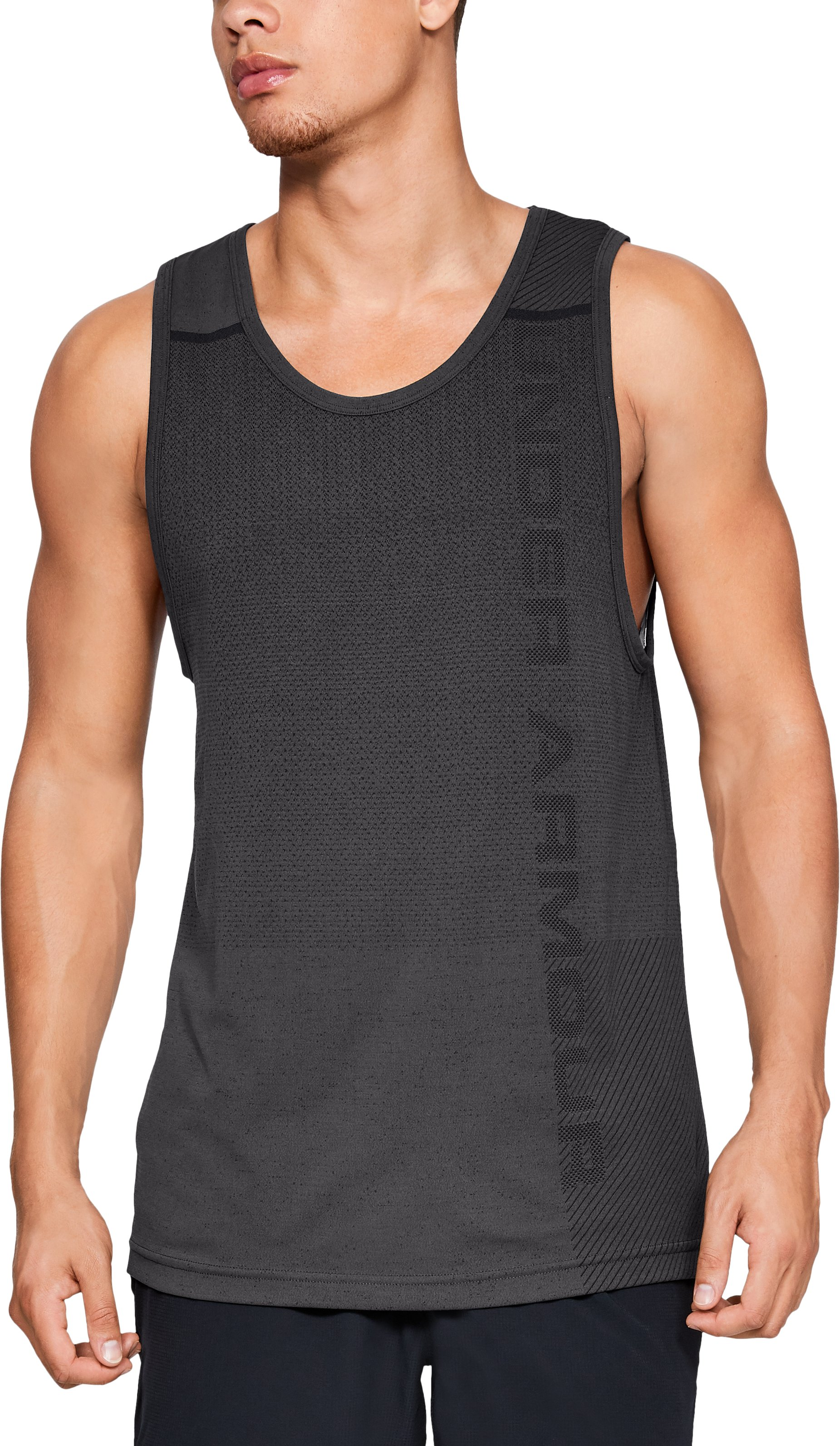 Men's UA Vanish Seamless Tank, Charcoal