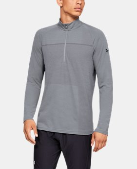 Men's UA Vanish Seamless Patterned ½ Zip  1  Color Available $75
