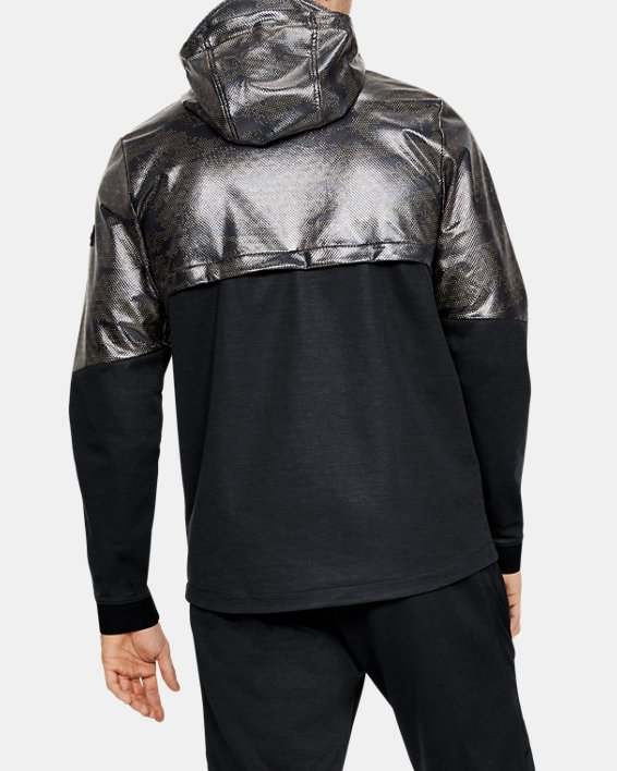 Men's UA Hybrid Anorak Windbreaker, Black, pdpMainDesktop image number 2