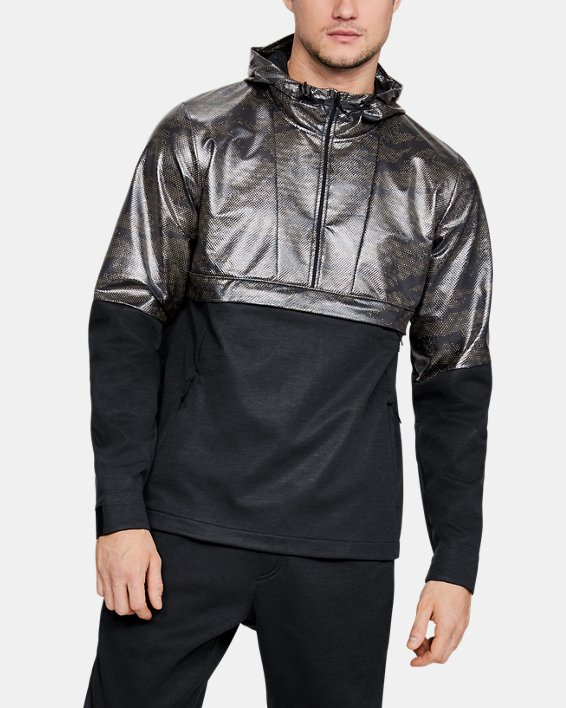 Men's UA Hybrid Anorak Windbreaker, Black, pdpMainDesktop image number 0