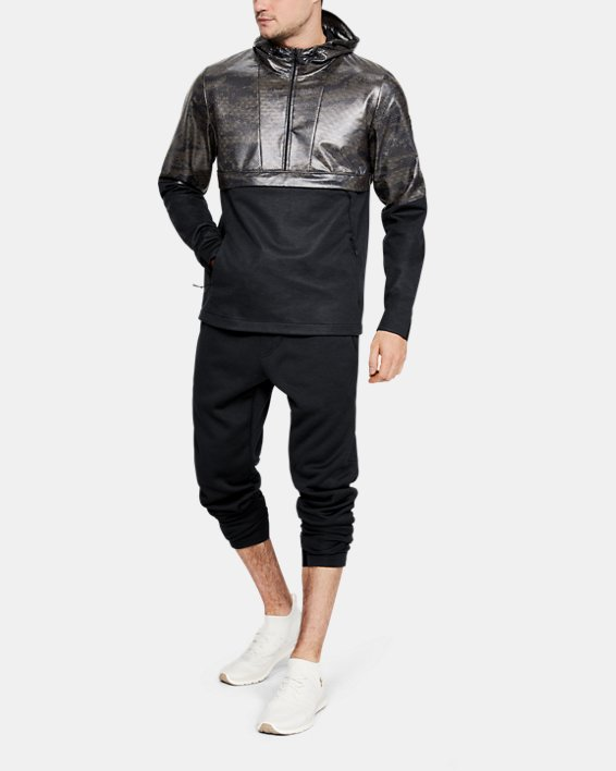 Men's UA Hybrid Anorak Windbreaker, Black, pdpMainDesktop image number 1