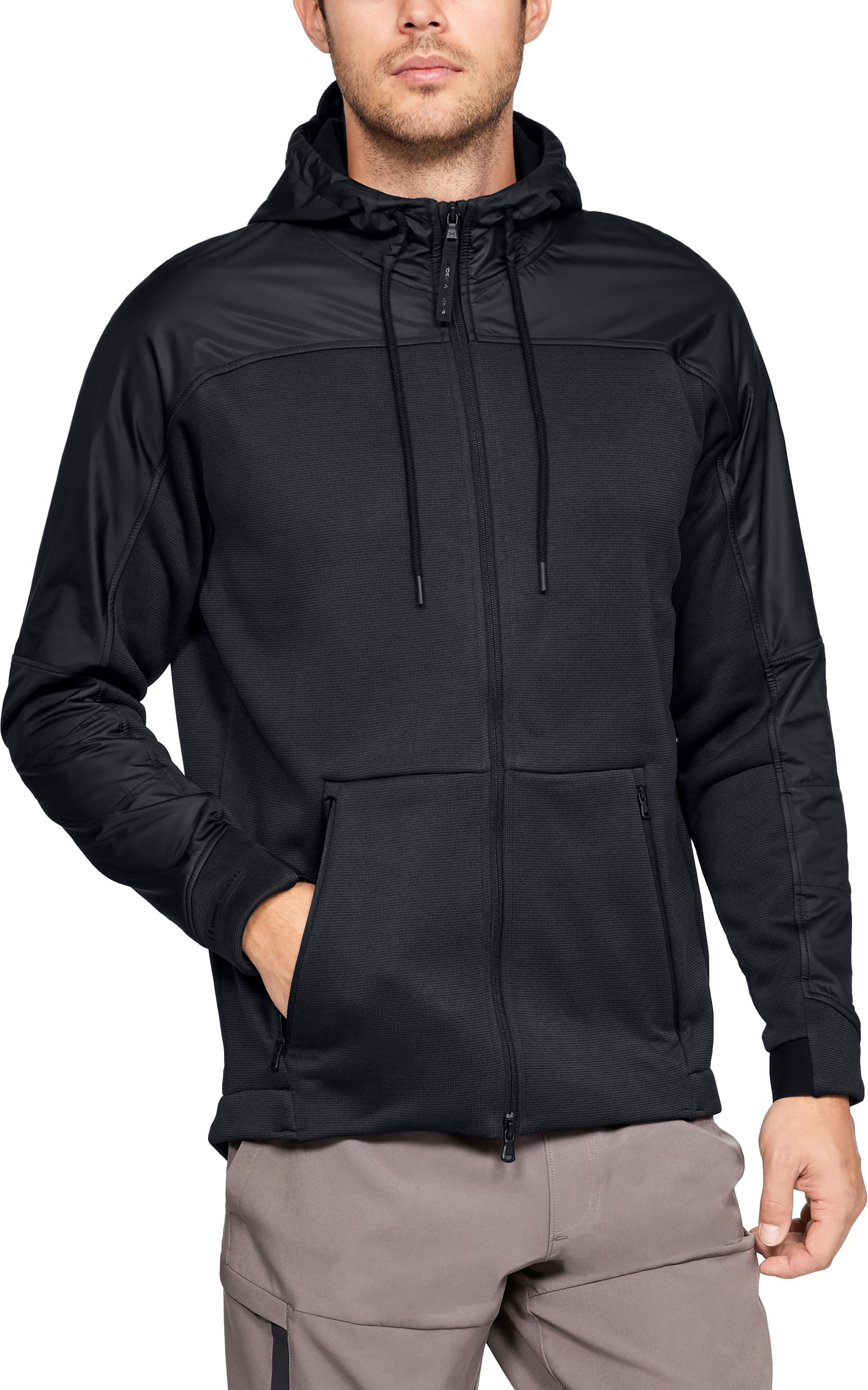 Men's ColdGear® Swacket, Black ,