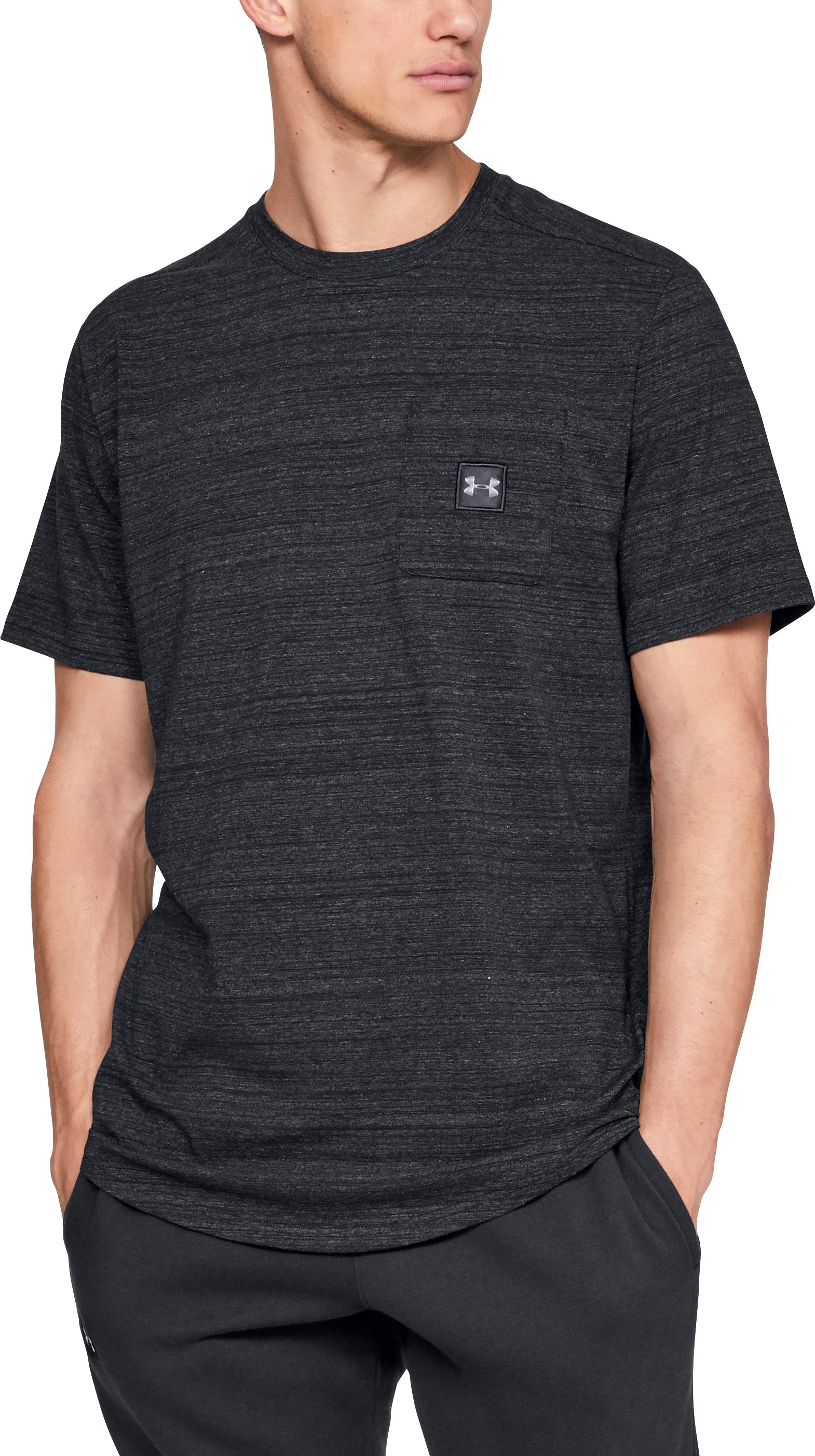 SPORTSTYLE POCKET TEE, Black , zoomed