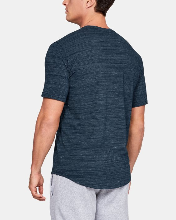 Men's UA Sportstyle Pocket T-Shirt, Navy, pdpMainDesktop image number 2