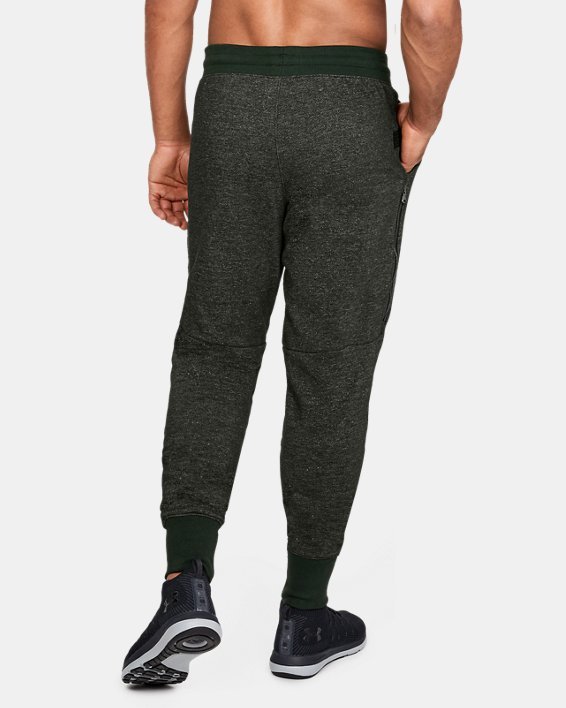 Men's UA Speckle Terry Joggers, Green, pdpMainDesktop image number 2