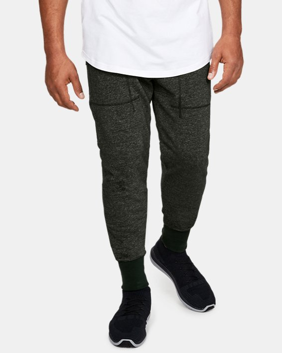 Men's UA Speckle Terry Joggers, Green, pdpMainDesktop image number 0