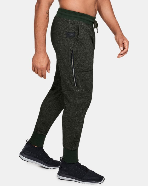 Men's UA Speckle Terry Joggers, Green, pdpMainDesktop image number 3