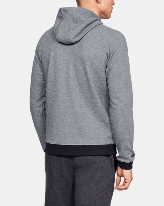 Men's UA Unstoppable Double Knit Full Zip, Gray, pdpMainDesktop image number 2