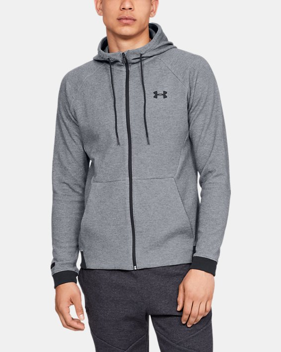 Men's UA Unstoppable Double Knit Full Zip, Gray, pdpMainDesktop image number 1