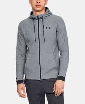 Men's UA Unstoppable Double Knit Full Zip  1  Color Available $75