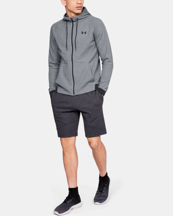 Men's UA Unstoppable Double Knit Full Zip, Gray, pdpMainDesktop image number 0