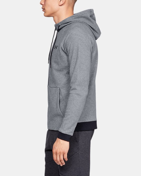 Men's UA Unstoppable Double Knit Full Zip, Gray, pdpMainDesktop image number 3