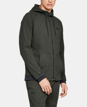 New Arrival Men's UA Unstoppable Double Knit Full Zip FREE U.S. SHIPPING 3  Colors Available $75