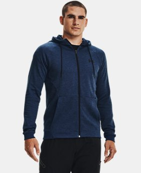 Men's UA Unstoppable Double Knit Full Zip  1  Color Available $90