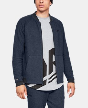 Men's UA Unstoppable Double Knit Bomber Jacket  3  Colors Available $65