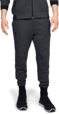 New Under Armour UA Men/'s Unstoppable Double Knit Gym Jogger Shorts Black