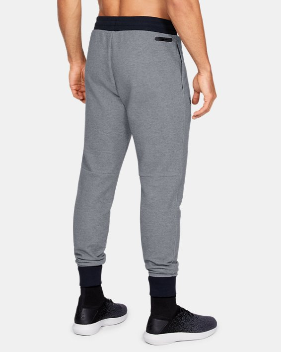 Men's UA Unstoppable Double Knit Joggers, Gray, pdpMainDesktop image number 2