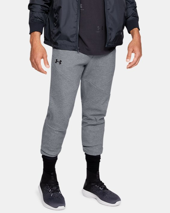 Men's UA Unstoppable Double Knit Joggers, Gray, pdpMainDesktop image number 0