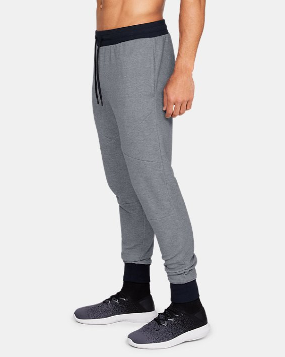 Men's UA Unstoppable Double Knit Joggers, Gray, pdpMainDesktop image number 3