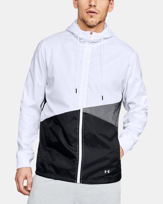Men's UA Unstoppable Windbreaker, White, pdpMainDesktop image number 0