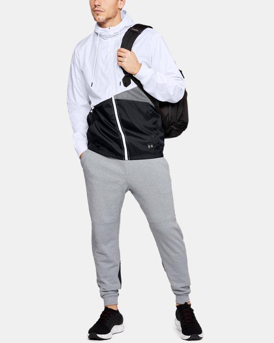 Men's UA Unstoppable Windbreaker, White, pdpMainDesktop image number 1