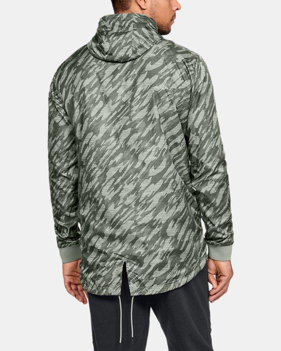Men's UA Sportstyle Longline Anorak Jacket, Green, pdpMainDesktop image number 2