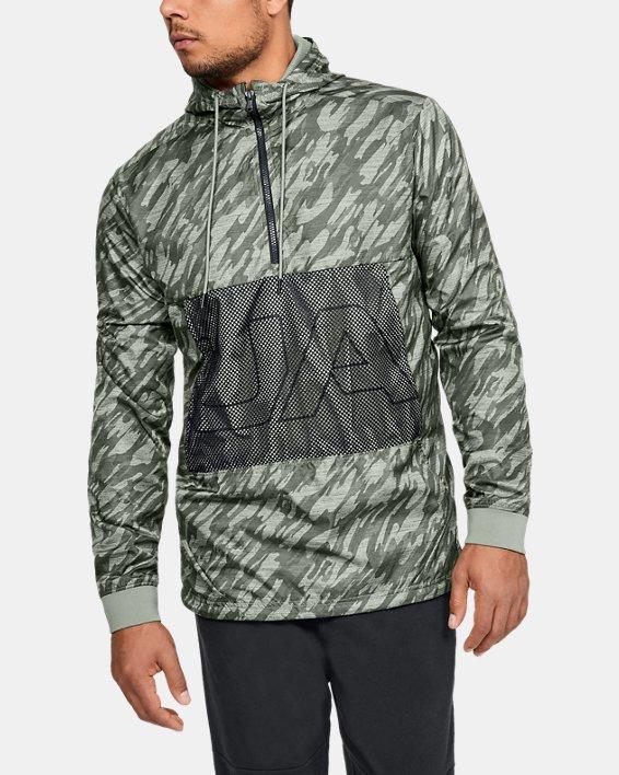 Men's UA Sportstyle Longline Anorak Jacket, Green, pdpMainDesktop image number 0