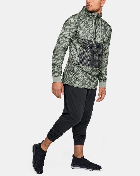 Men's UA Sportstyle Longline Anorak Jacket, Green, pdpMainDesktop image number 1