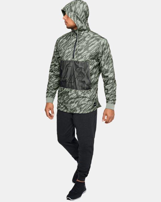 Men's UA Sportstyle Longline Anorak Jacket, Green, pdpMainDesktop image number 7