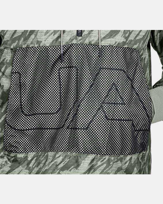 Men's UA Sportstyle Longline Anorak Jacket, Green, pdpMainDesktop image number 6