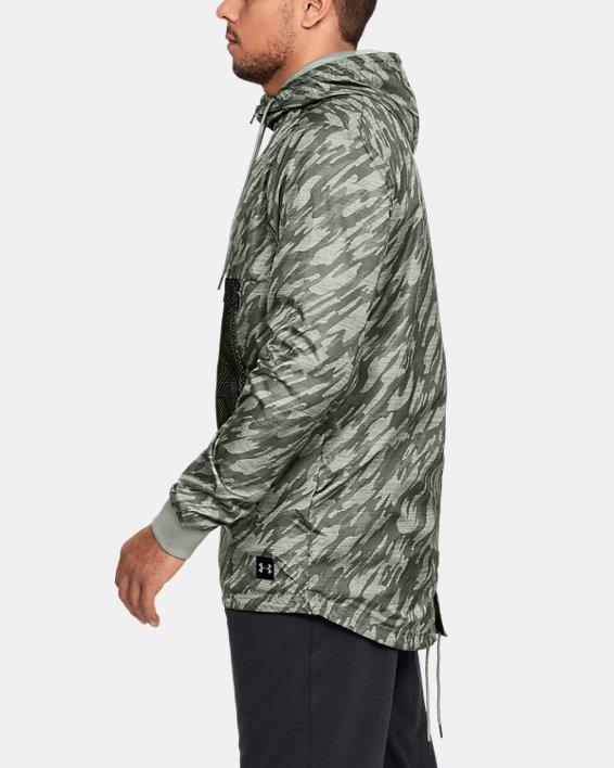 Men's UA Sportstyle Longline Anorak Jacket, Green, pdpMainDesktop image number 3