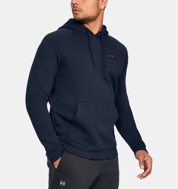 Men's UA Rival Fleece Hoodie, Academy, , Academy, Click to view full size