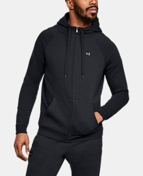 Best Seller Men's UA Rival Fleece Full-Zip  1  Color Available $55