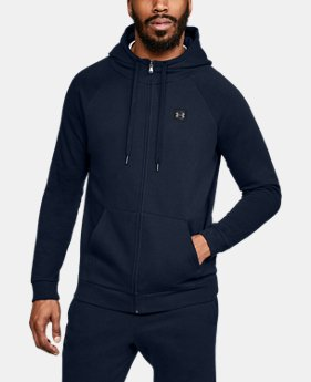 Men's UA Rival Fleece Full-Zip  6  Colors Available $55