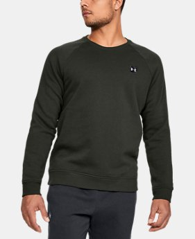 New Arrival  Men's UA Rival Fleece Crew  1  Color Available $50