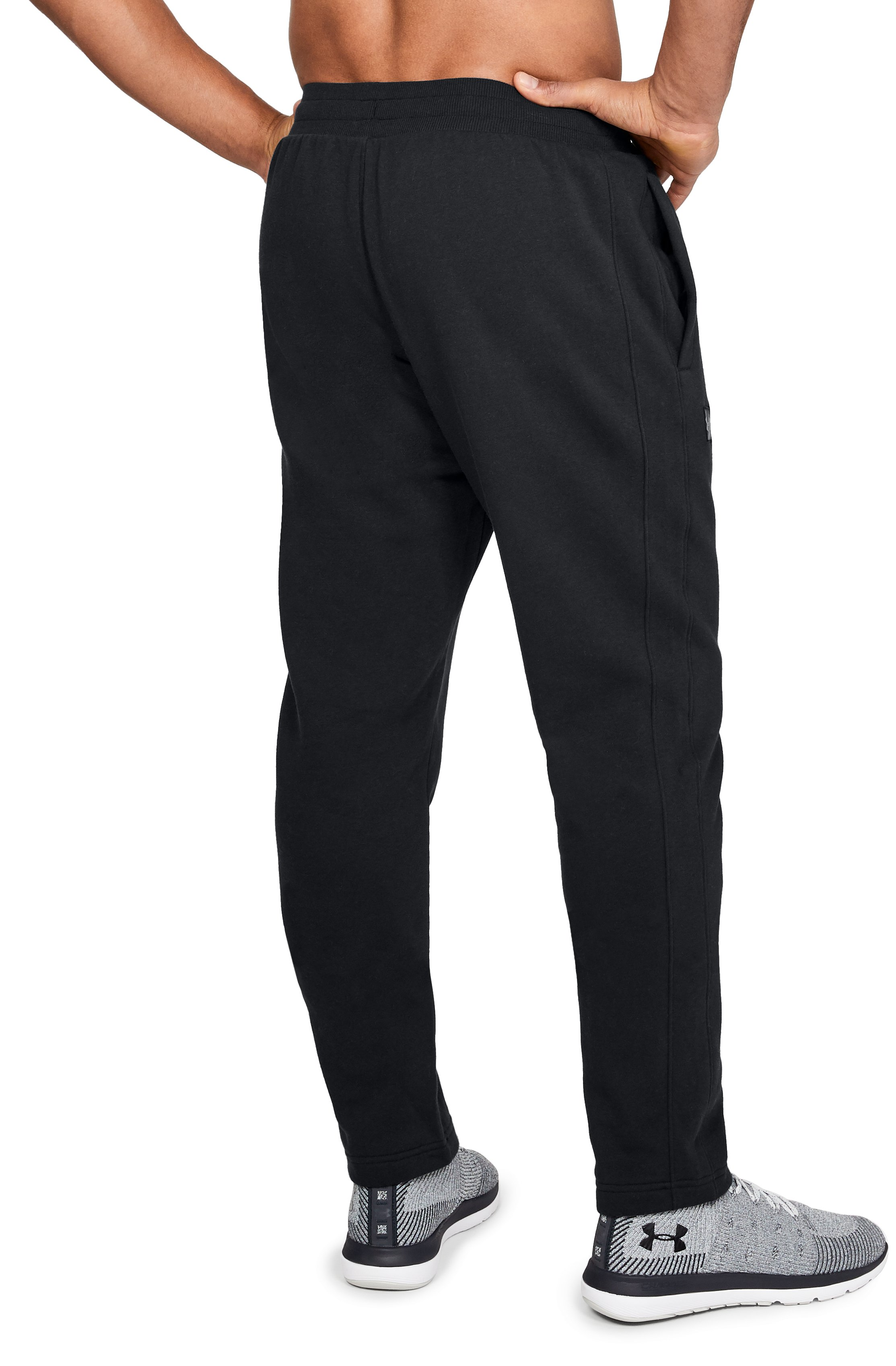Men's UA Rival Fleece Pants, Black ,