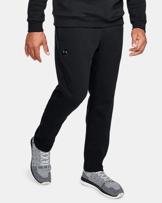Pantalon UA Rival Fleece pour homme, Black, pdpMainDesktop image number 0