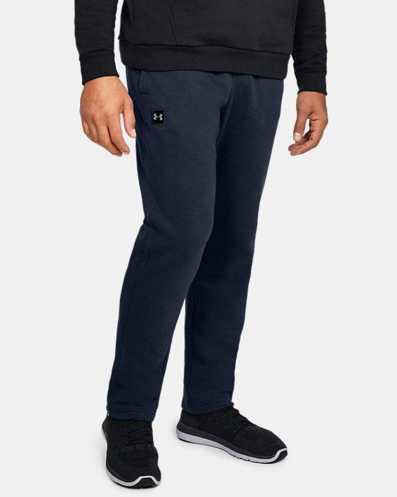 Men's UA Rival Fleece Pants, Navy, pdpMainDesktop image number 0