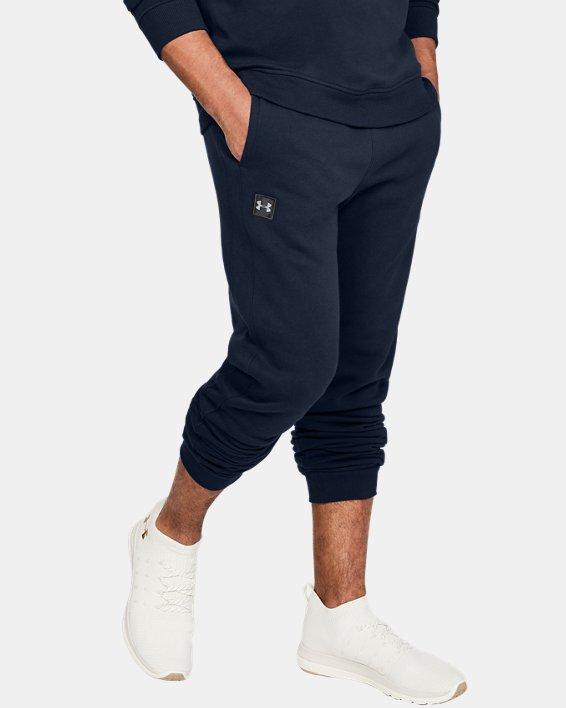 Pantalon de jogging UA Rival Fleece pour homme, Navy, pdpMainDesktop image number 0